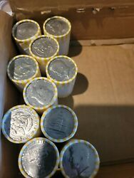 10 Rolls Of Kennedy Half Dollar Coins, Unsearched, Tight Loomis Rolls. 100fv
