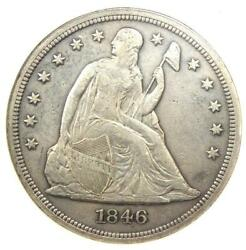1846 Seated Liberty Silver Dollar 1 - Xf Details Ef - Rare Early Coin
