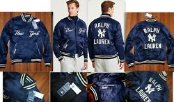 Nwt Polo New York Yankees Limited Edition Stitched Shiny Jacket L