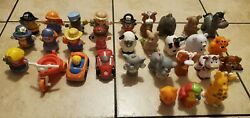 Lot of 30 Fisher Price Little People Horses Princess and Prince Figures Others