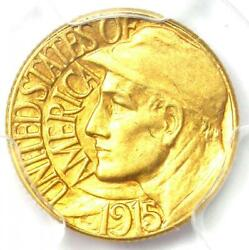 1915-s Panama Pacific Gold Dollar G1 Coin - Certified Pcgs Au58 - Rare