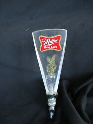 Vntg. Miller High Life Clear Acrylic/lucite 6 Beer Keg Tap Handle W/attachment