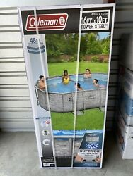 Coleman Power Steel 16ft X 10ft X 48in Oval Above Pool Set 16andrsquo X 10andrsquo X 48andrdquo
