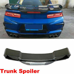 Carbon Fiber Rear Trunk Spoiler Racing Wing Fit For Chevrolet Camaro Coupe 16-18