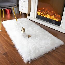 Fluffy Rugs Faux Fur Sheepskin Area Rug 2x3ft/2x4ft/2x5ft/3x5ft In Many Colors