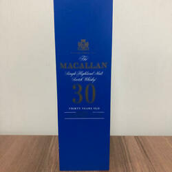 Macallan 30 Years Old Blue Label Rare Scotch Whiskey Empty Wooden Box
