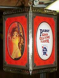 1960s Pabst Beer Gibson Girl Rotating Motion Sign Stunning Simply The Best
