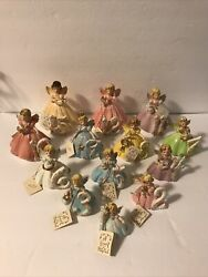 Josef Originals Birthday Angels Figurines Set Years 1-12 And 15 With Hang Tags