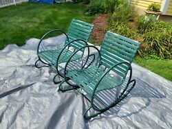 Vintage Furniture Patio Very Rare 4 Known To Exist Up State Ny Tubular Heavy 20s