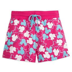 Mickey And Minnie Mouse Icon Gym Shorts For Adults Size Xxl Andndash Disneyland