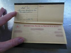 1913 Andalusia Alabama Bank And Trust Co. Early Checkbook Rare