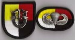 3rd Special Forces Group - Beret Flash Di / Crest Oval Wings Para Jump