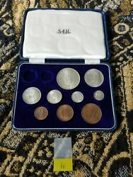South Africa Proof Set - 1952 - Short Set In Long Box - 6 Silver Coins - Iii