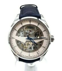 Hamilton Jazzmaster Skeleton Automatic H42535610 Menand039s Watch Excellent Cond