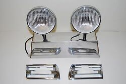 Porsche Hella 118 Horn Grill Clear Fog Lights 911 912 With Horn Grills 69 To 73