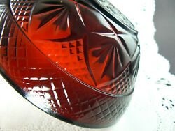 Vintage Ruby Red Glass Berry Bowl Luminarc France 19 Available A19b7