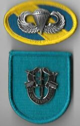 19th Special Forces Group - Beret Flash Di / Crest Oval Jump Wings