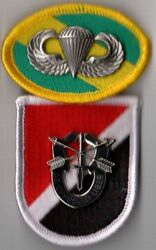 6th Special Forces Group - Beret Flash Di / Crest Oval Jump Wings Operations