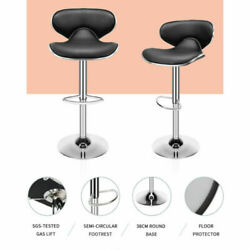 Modern Set Of 2 Swivel Bar Stools Counter Height Adjustable Kitchen Dining Chair