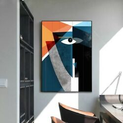 Modern Nordic Wall Art Abstract Geometric Figure Face Wall Canvas Printing Poste