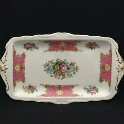 Royal Albert Lady Carlyle Sandwich Plate Out Of Print 11.81x6.69x0.8 New F/s