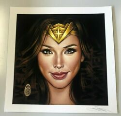 """Mimi Yoon """"wonder Woman Signed Print Poster Limited Edition Morris, Fairey"""