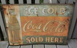 Vintage 1920s Coca Cola Metal Signs 27.5x 19.5and039and039