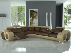 Ecksofa Couch Pads Corner Leather Set Sofa Couch In Stock New