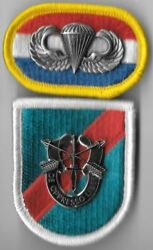 20th Special Forces Group - Beret Flash Di / Crest Oval Jump Wings