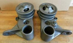1937-48 Ford Trucks 221 239 V8 New Aftermarket Water Pump Double Pulley Set-a