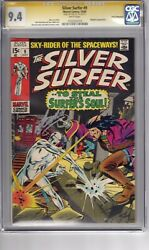 Silver Surfer 9 1969 Cgc 9.4 Ss Stan Lee Wp And039app...mephestoand039 Buscema Cover