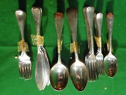 Flatware Silver Plated Antique Old English Marked And Great Quality, English 1890