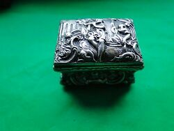 Boxes, Sterling Silver Nuremberg German Made Miniature Circa 1850 Antique