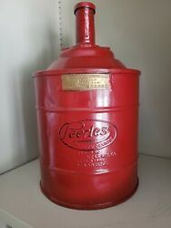 Peerless 1 Gal Antique Gas Can W/ Brass Label