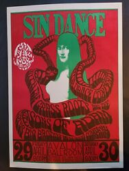 Fd 06-op1 Sin Dance Poster - Very Rare Early Family Dog Show - Beautiful