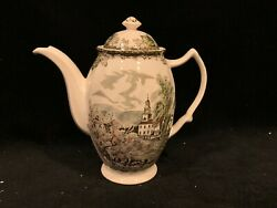 """Vintage Johnson Brothers """"friendly Village"""" Coffee Pot And Cover, England"""
