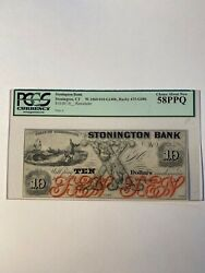 Obsolete Currency Us Paper Money Stonington Bank Ct 10 1800andrsquos