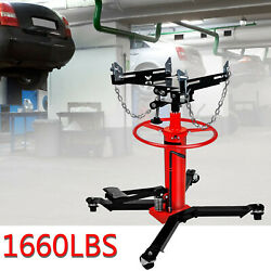 1660lbs Transmission Jack 2 Stage Hydraulic With 360anddeg For Engine Lift