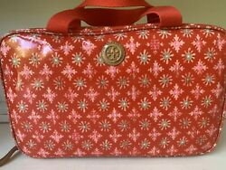 NEW Authentic Tory Burch Womens LARGE Hanging Cosmetic Bag NWT Poppy Red $55.00