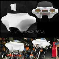 Detachable Batwing Headlight Fairing 6x9 Speakers For Harley Road King 1994-up