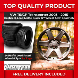 For Vw T5 Gp Calibre X-load 17 Load Rated Wheels Matte Black Bf Goodrich 245/65