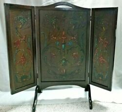 Antique Folding Fireplace Screen By Fbm Co. Ferguson Brothers Manufacturing