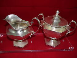 Sugar And Creamer Set Japanese In Sterling Silver Cr.1993 4520