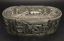 Antique Silver Jewelry Box, Monogrammed With Visible Makers Marks