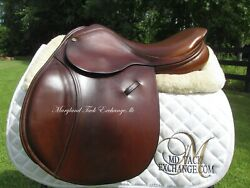 16.5 County Stabilizer Close Contact Jumping Saddle- Wool Flocked- Medium Tree