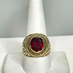 Vintage 14k Signed Ejm Benedict College Columbia South Carolina 1949 Class Ring