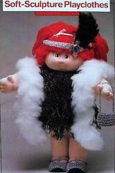 Vintage Soft Sculpture Doll Playclothes Digest Size Crochet Pattern Book Htf