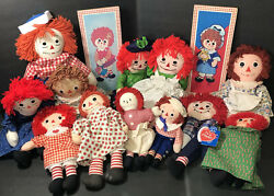 12 Raggedy Anne And Andy Dolls W'2 Vintage Collective Boards