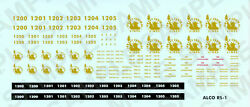 1-12 Ho Scale Cnj Alco Rs-1 Decals Jersey Central Lines, Crr Of Nj