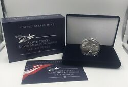 🇺🇸 U.s. Air Force 2.5 Oz Silver Medal In Original Box And Coa On Hand
